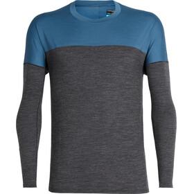 Icebreaker Kinetica Koszulka do biegania z długim rękawem Mężczyźni niebieski